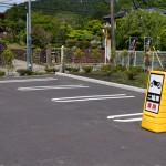 サンクス津久井宮が瀬店にバイク用駐車スペース