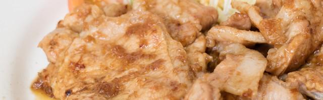 お肉屋さんが経営する定食屋・愛津屋で豚生姜焼ライスを食べてきました