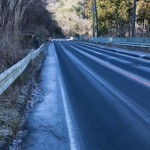 路面の凍結 1月14日